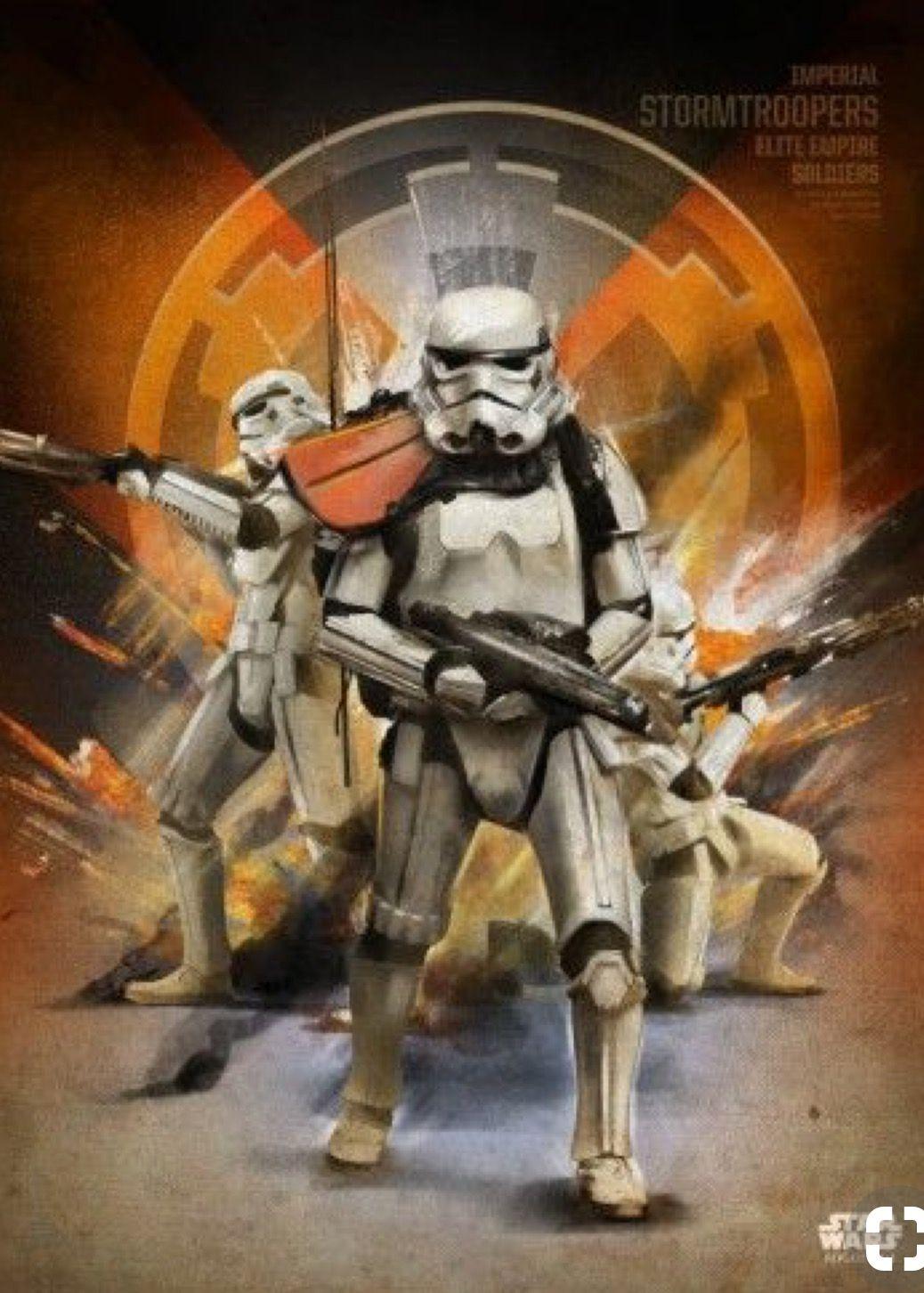 Star Wars Stormtrooper Original Art Print signed by artist Scott Harben
