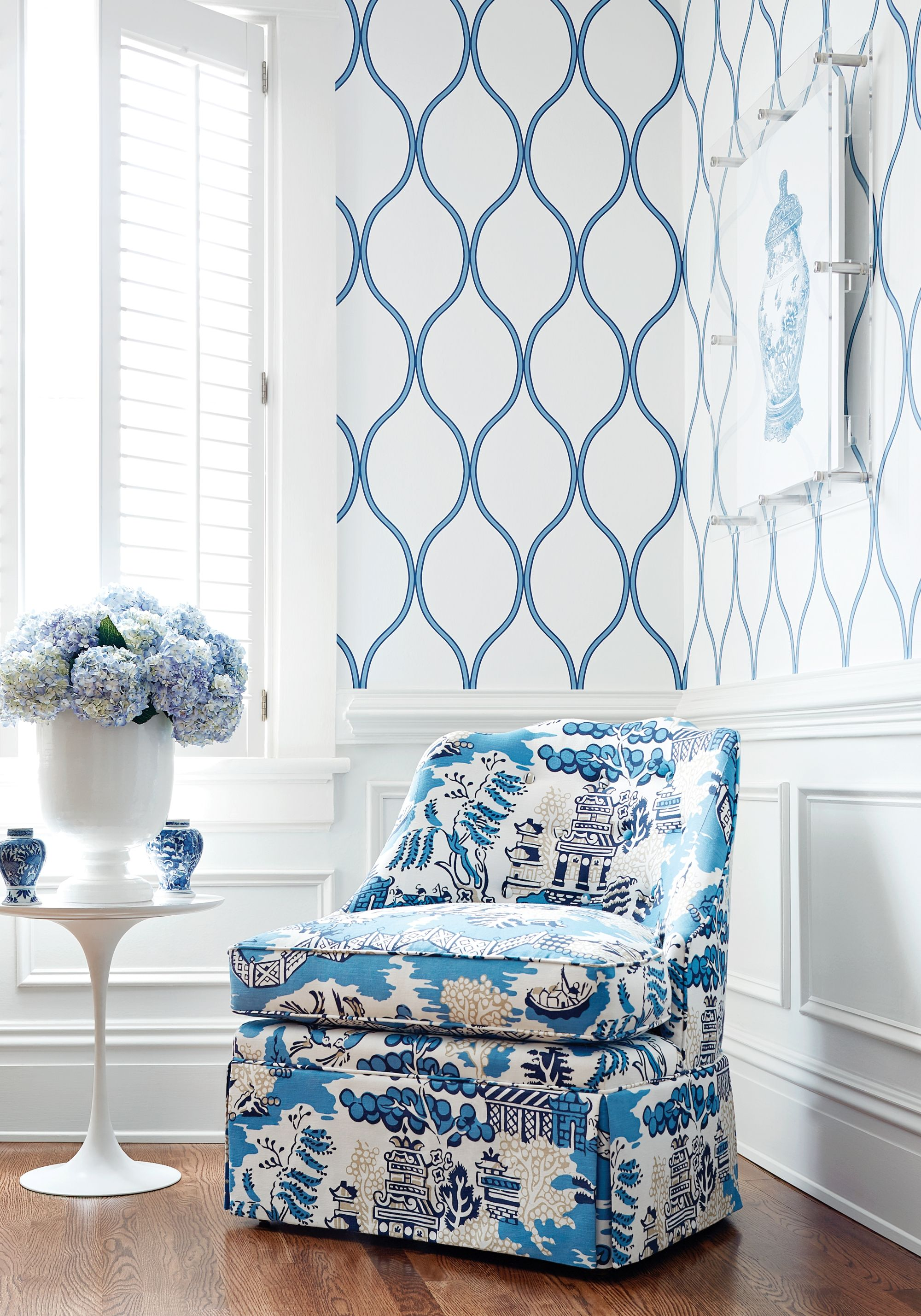 Brentwood Chair with Skirt from Thibaut Fine Furniture in