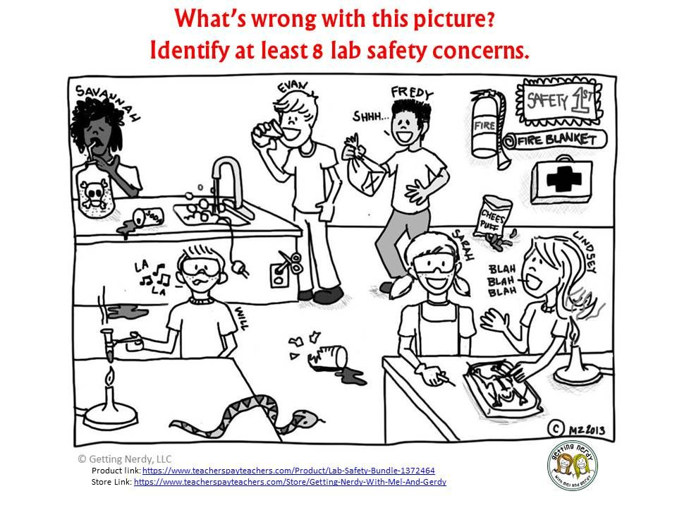 Touch This Image Lab Safety By Jmbaxter Lab Safety Science Safety Activities Lab Safety Activities Lab safety cartoon worksheet