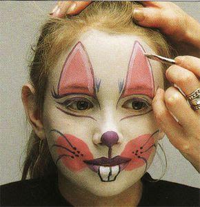 Avec Pitchoun Maquillage de carnaval  Petit lapin