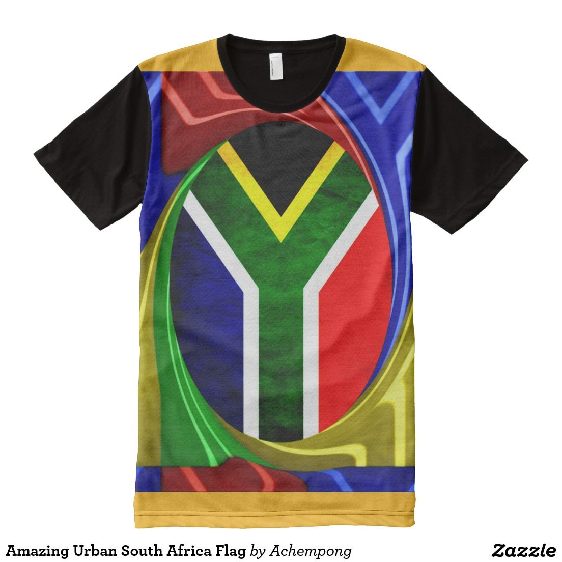 Amazing Urban South Africa Flag All-Over-Print Shirt