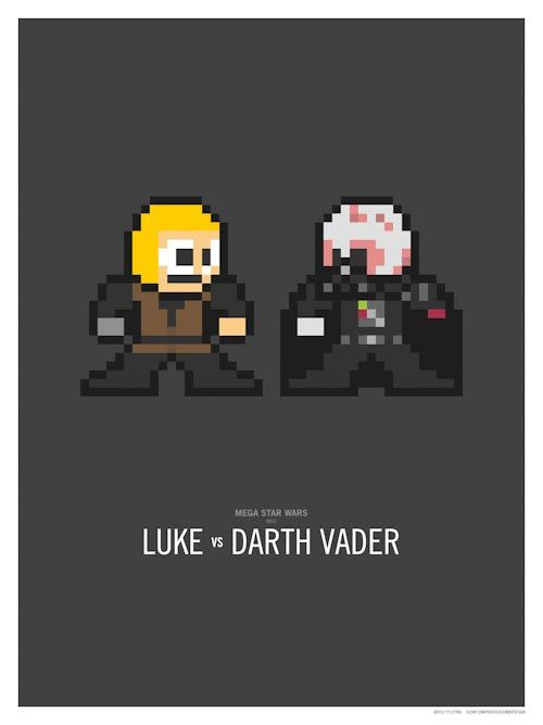 Mega Star Wars Luke vs Darth Vader by Ty Lettau