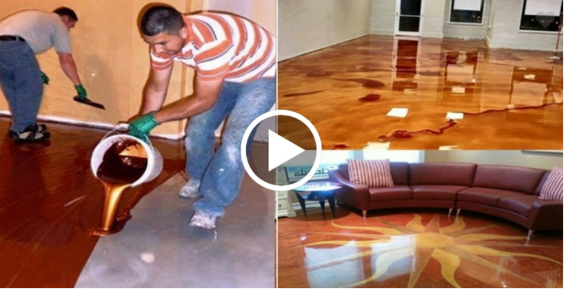Pentru A Vedea Clipul Apasa Pe Imagine Metallic Epoxy Floor Epoxy Floor Floor Makeover