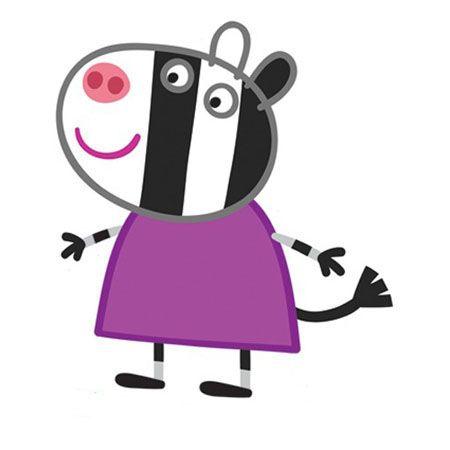 Peppa pig cartone animato famiglia di peppa pig zoe zebra pepa