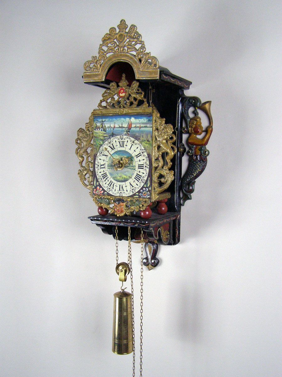 This Is A Dutch Zaanse Clock With Anchor Escapement Bell