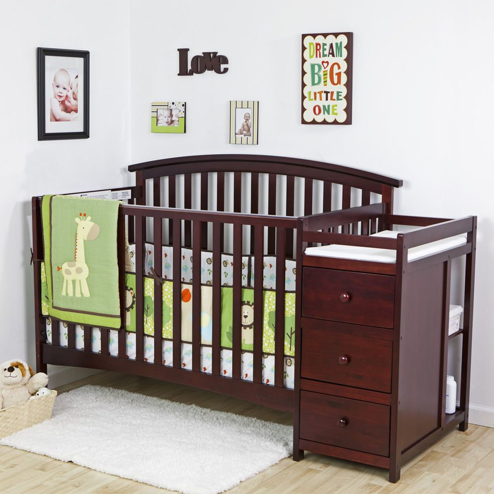 Details about 5 in 1 Side Convertible Crib Changer Nursery
