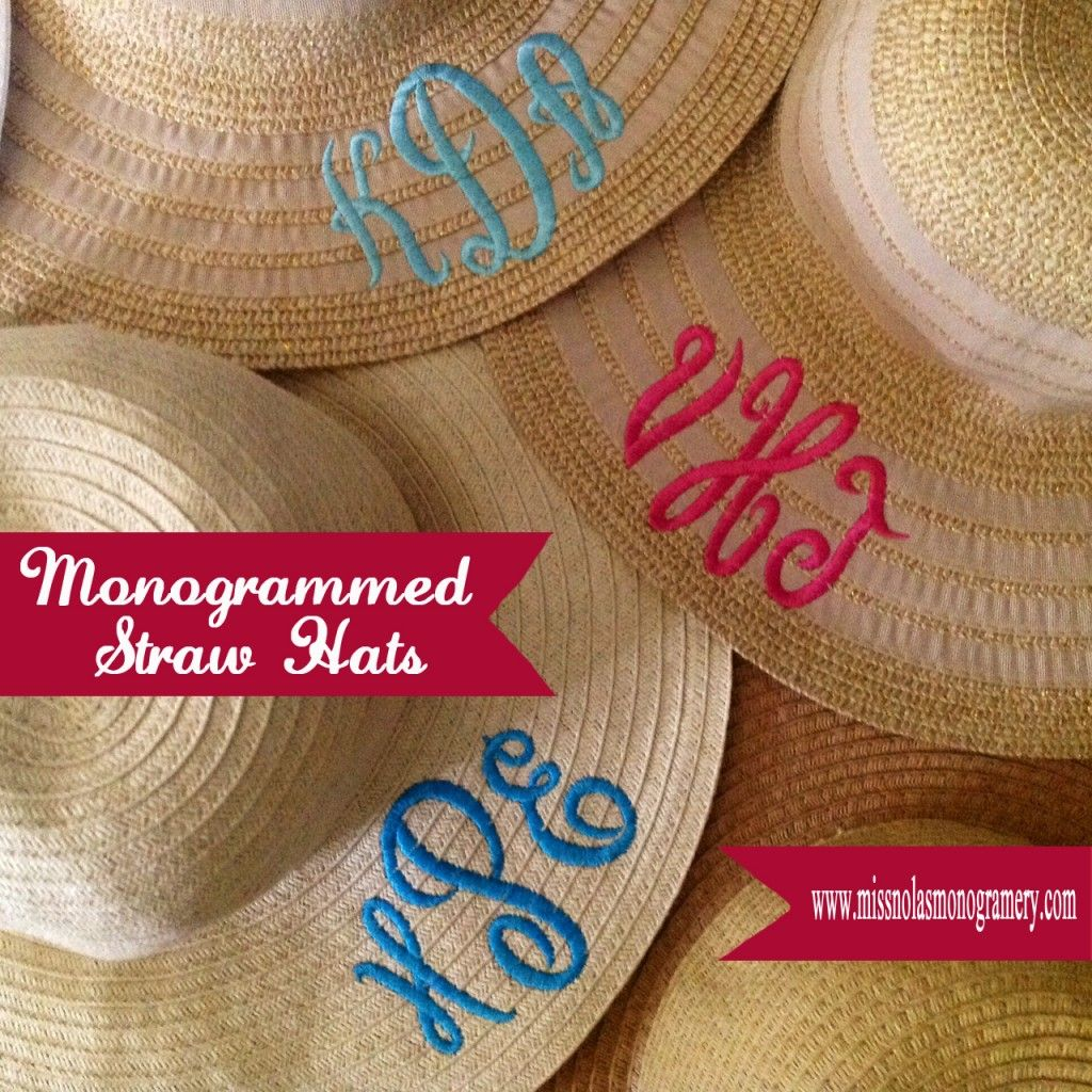 how to monogram a straw hat