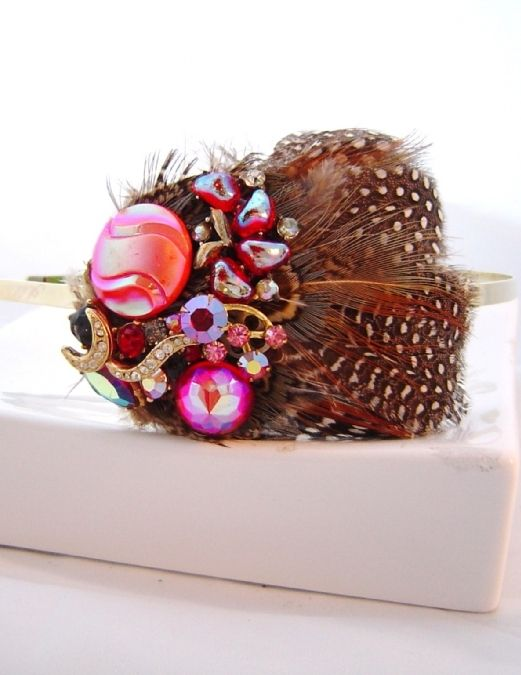 Great Gatsby hair accessories Sheena Holland Feather headband Cherry Boom Feather Headband