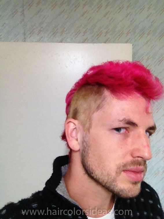 Moises Pink Mohawk Mohawks Hair Color Pink And Mohawk Hair