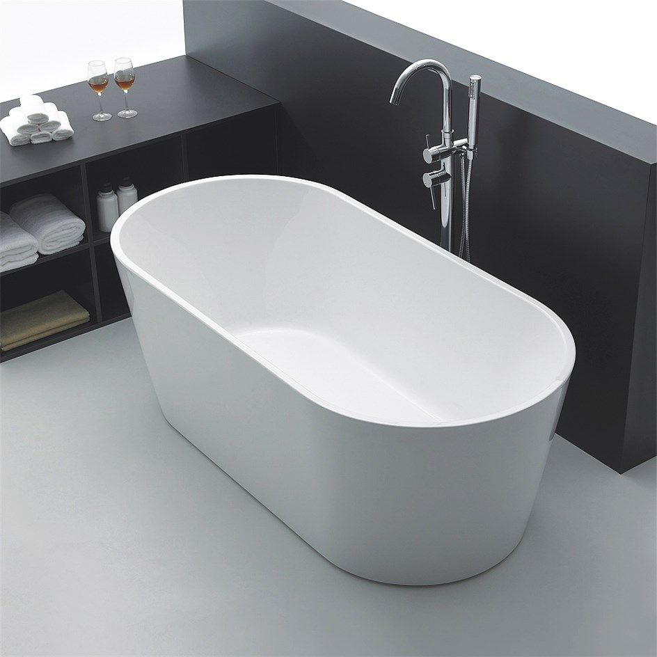 Badkar badkar mått : Badkar Bathlife Ideal FristÃ¥ende Rund Vit | Badkar och Badrum