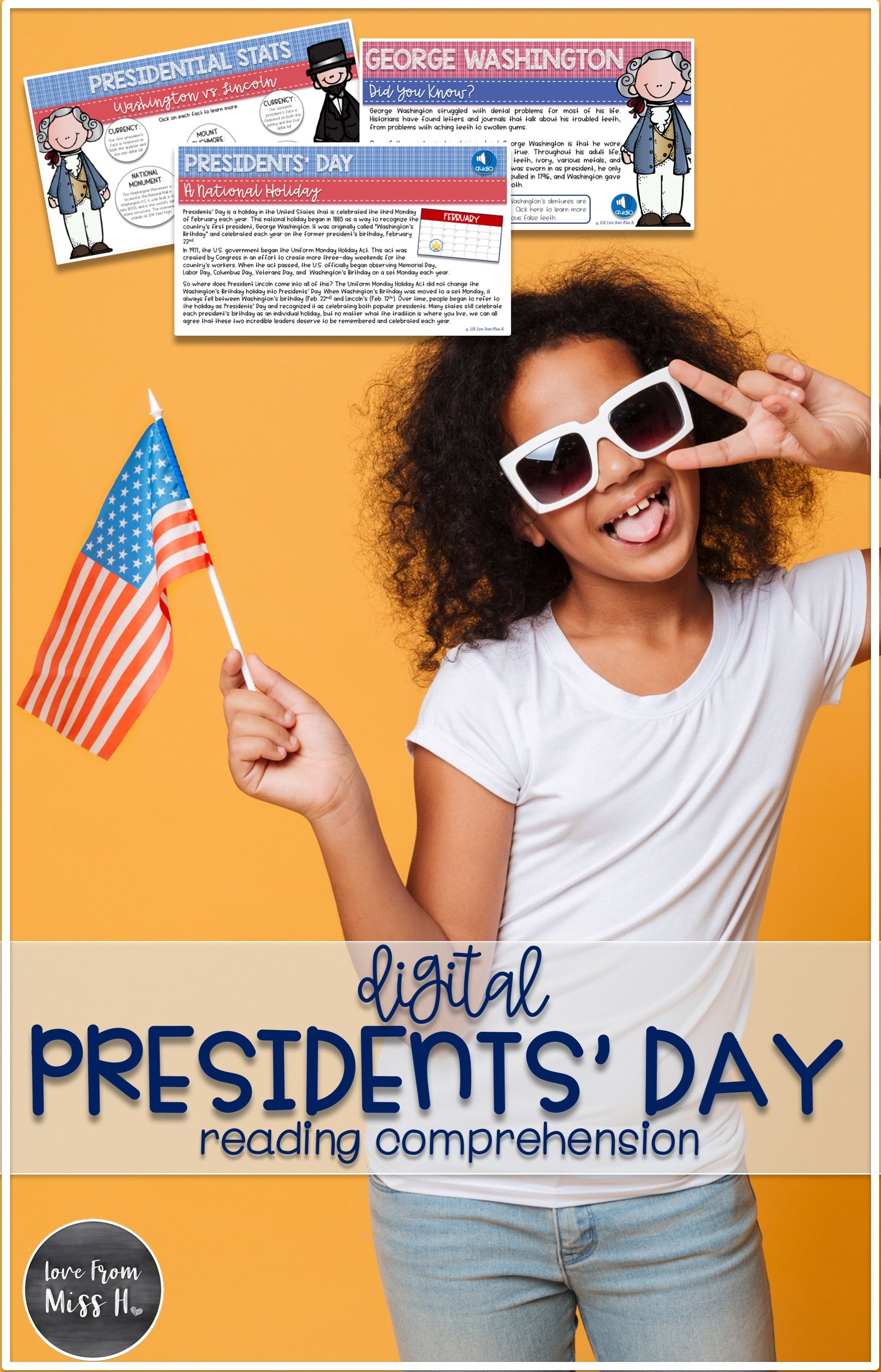 Presidents Day Activities Digital Reading Comprehension