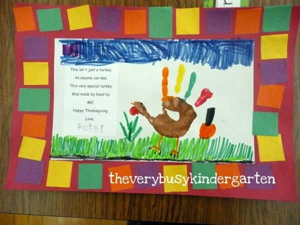 The Very Busy Kindergarten More Cute Easy Turkey Projects Thanksgiving Kindergarten Thanksgiving Classroom Thanksgiving Placemats