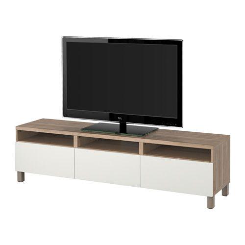 BESTÅ Mobile TV con cassetti - guida cassetto/apertura a pressione ...