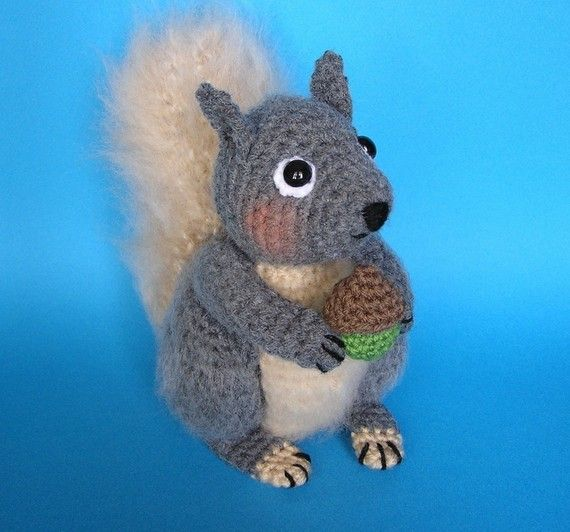 Crochet Pattern: Hygge Squirrel amigurumi by Hooked by Kati ... | 532x570