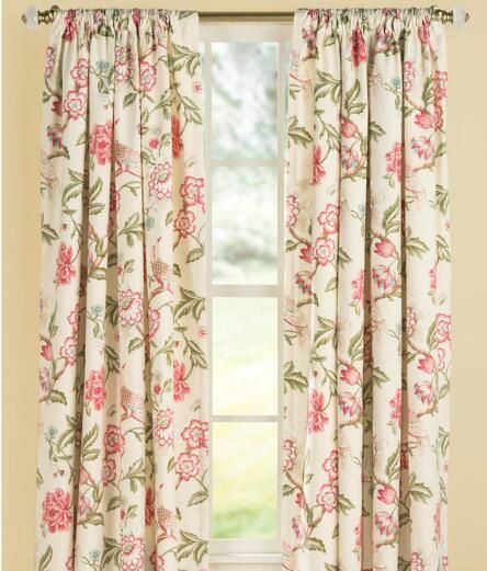 Bird in Paradise Lined Rod Pocket Curtains $269.95 - $299 ...