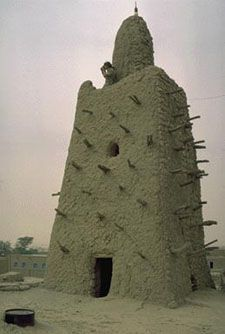 a tower from timbuktu (medieval africa) | black history month