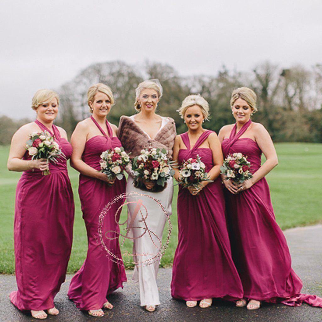 8f6e8724a69a Popular Convertible Halter Grecian Chiffon Wedding Party Cheap Bridesmaid  Dresses. AB1195