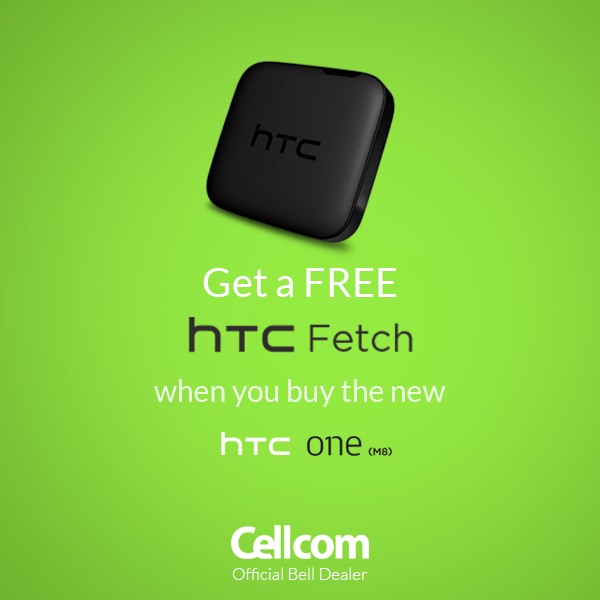 FREE HTC Fetch for ALL those who buy a brand new HTC One at a Cellcom store! Come quick! We still have a few left! #free #cellcom #HTCsmartphones