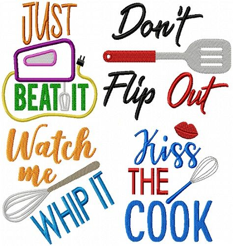 Kitchen Sayings VI | Commercial embroidery machine ...