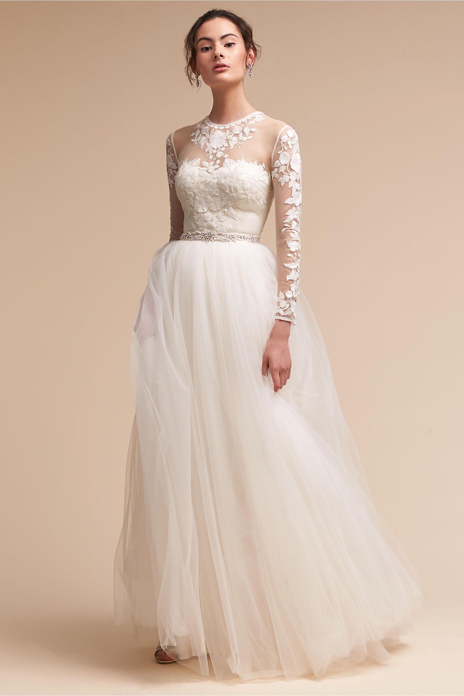 e16358b66d2 Wedding Dress with Bodysuit and Skirt