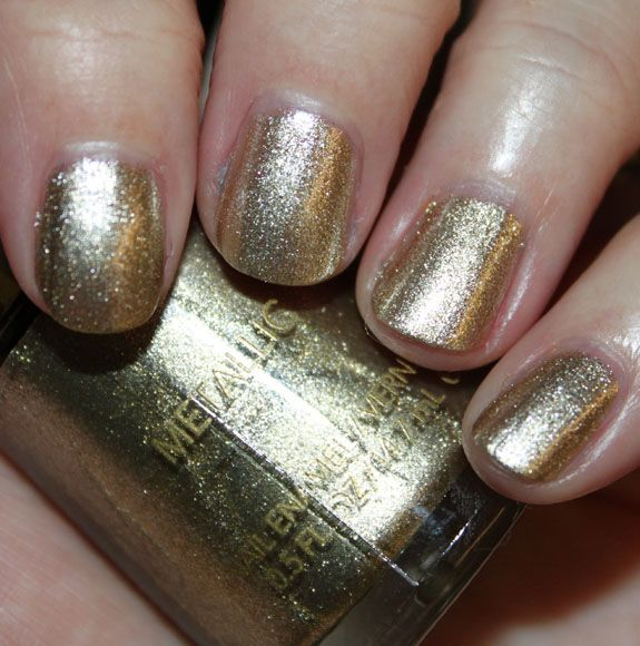 My nail color of the week - Revlon's Gold Coin.  Feels very Greek-Goddess-like!
