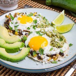 corn and black bean huevos rancheros