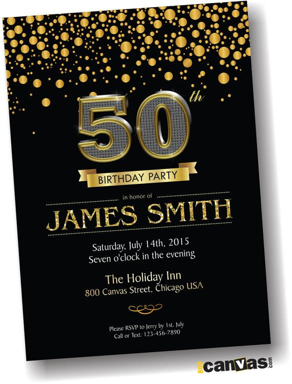 black gold birthday invitation any ages 30th 40th 60th 70th 80th