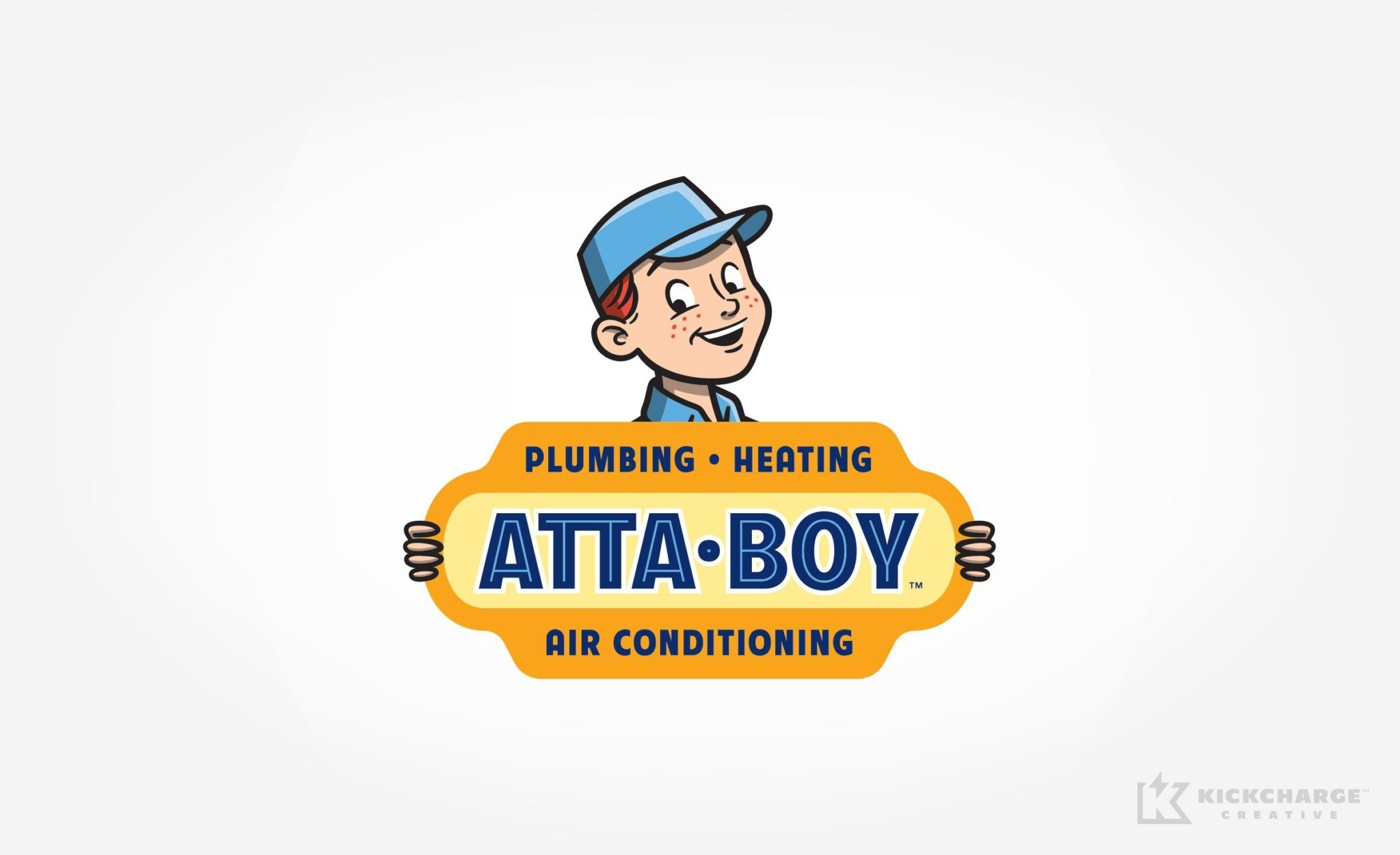 Attaboy Plumbing Kickcharge Creative Plumbing Logo Design