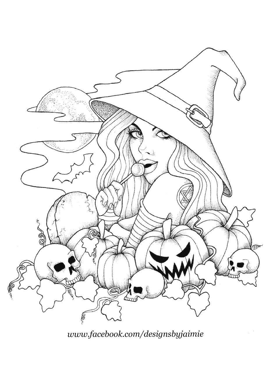 Witch And Pumpkins Witch Coloring Pages Halloween Coloring Pages Halloween Coloring Book In 2021 Witch Coloring Pages Halloween Coloring Pages Halloween Coloring Book