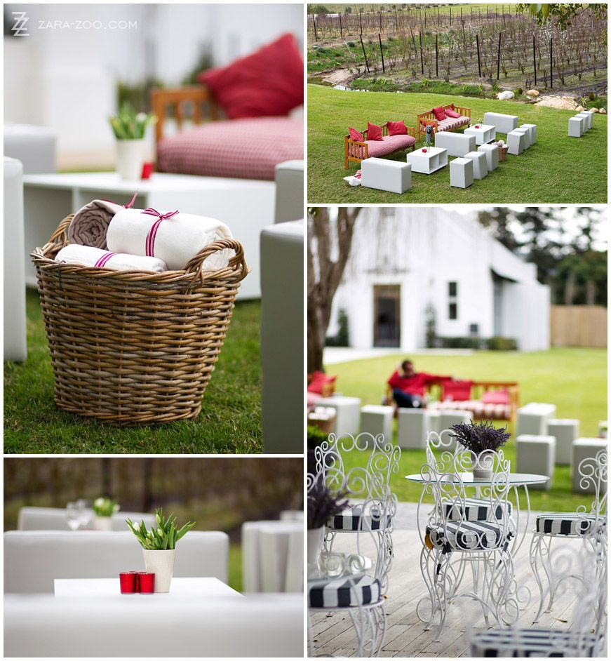 Pre Wedding Drinks Area At Brenaissance In Stellenbosch South Africa
