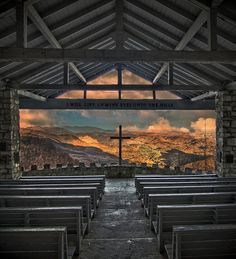 """One of my favorite places outside of Asheville.  Chapel at Camp Greenville in Cedar Mountain, NC. """"Pretty Place"""""""