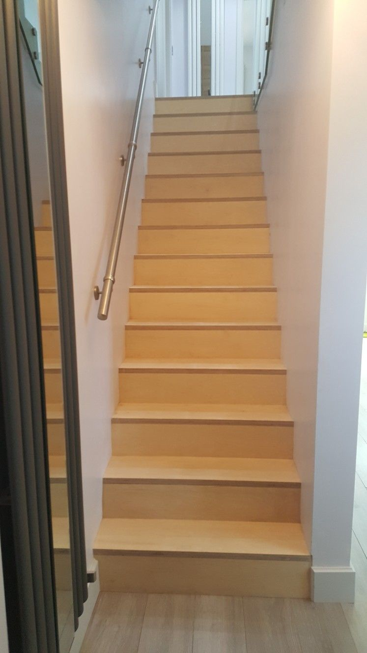 Best Birch Plywood Stairs Designed By Me With Images Stairs 400 x 300