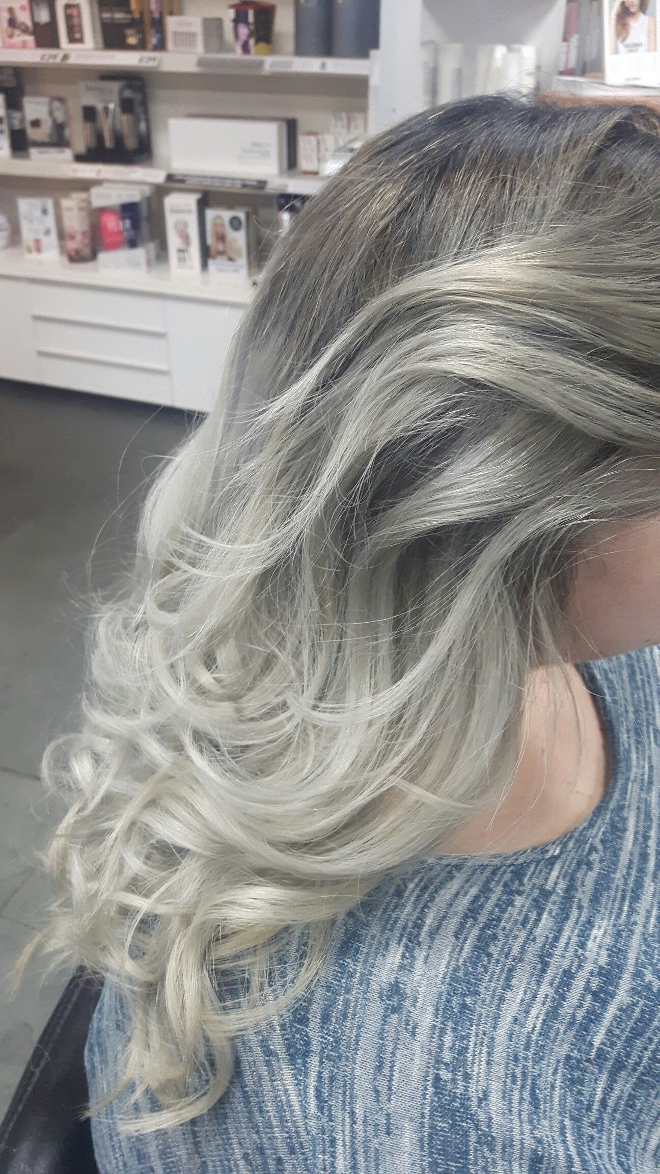 Dark roots faded too light grey ends Hair Pinterest