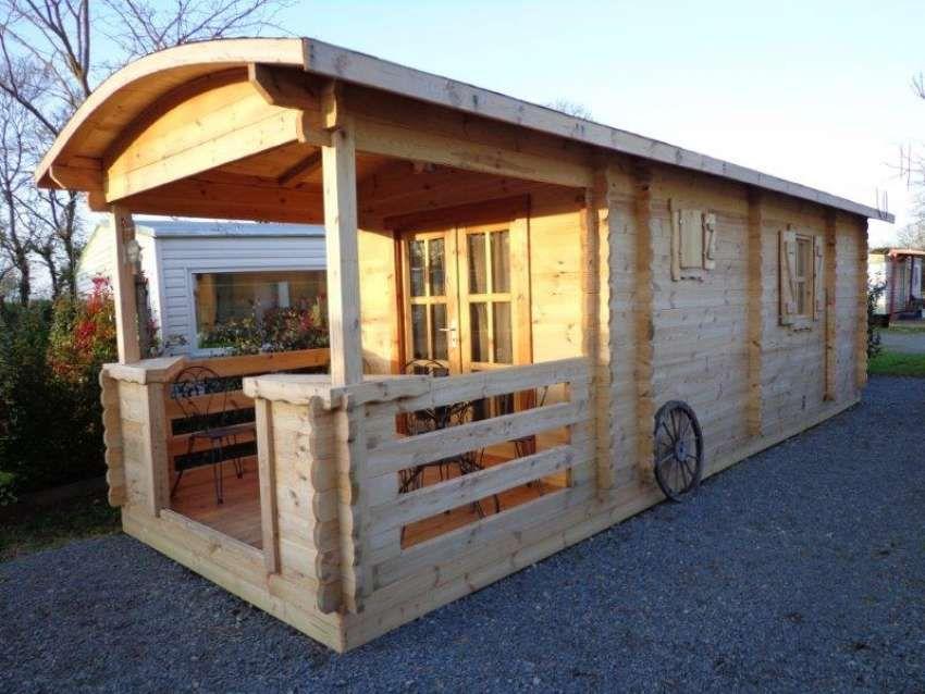 Chalet bois en kit Roulotte Roulottes - caravannes - tiny houses