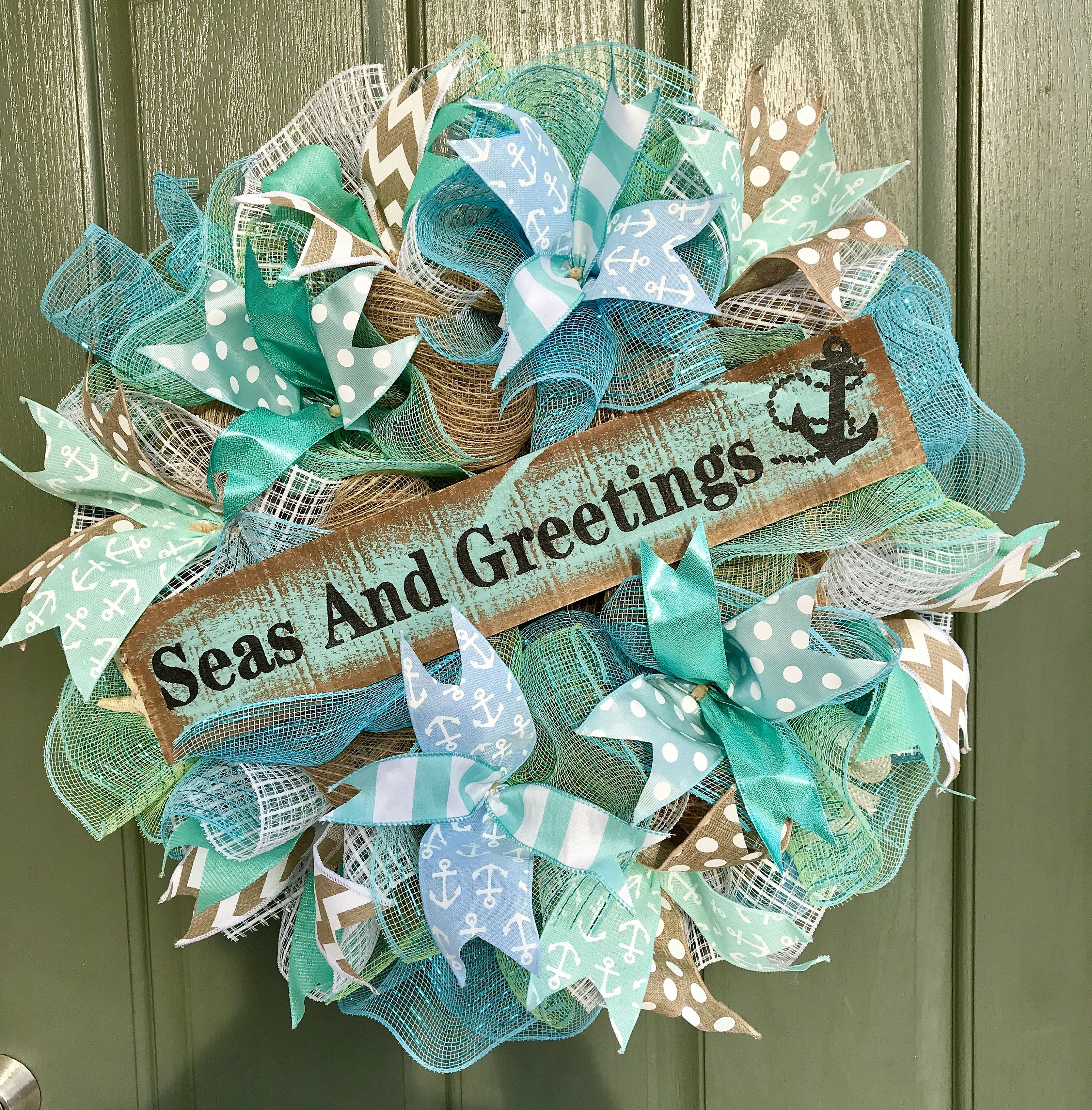 Nautical Christmas Wreath.Pin On Wreath Creations From Darlingdoor