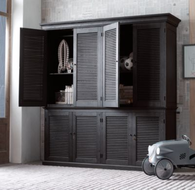 Shutter Double Armoire | Cabinets | Restoration Hardware Baby ...