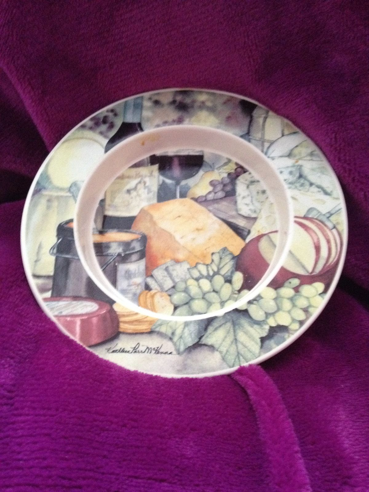serving plate cheese dish multicolored by Kathleen Parr Mckenna & serving plate cheese dish multicolored by Kathleen Parr Mckenna ...