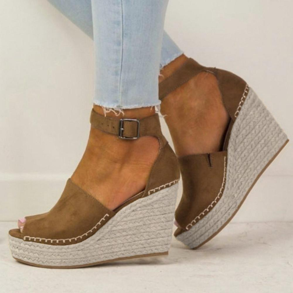 Peep toe wedge sandals, Wedge sandals
