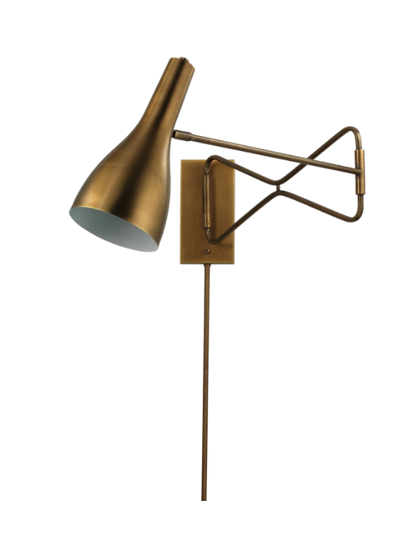 Lenz Swing Arm Sconce Brass With Images Swing Arm Wall Lamps Wall Lamp Lamp