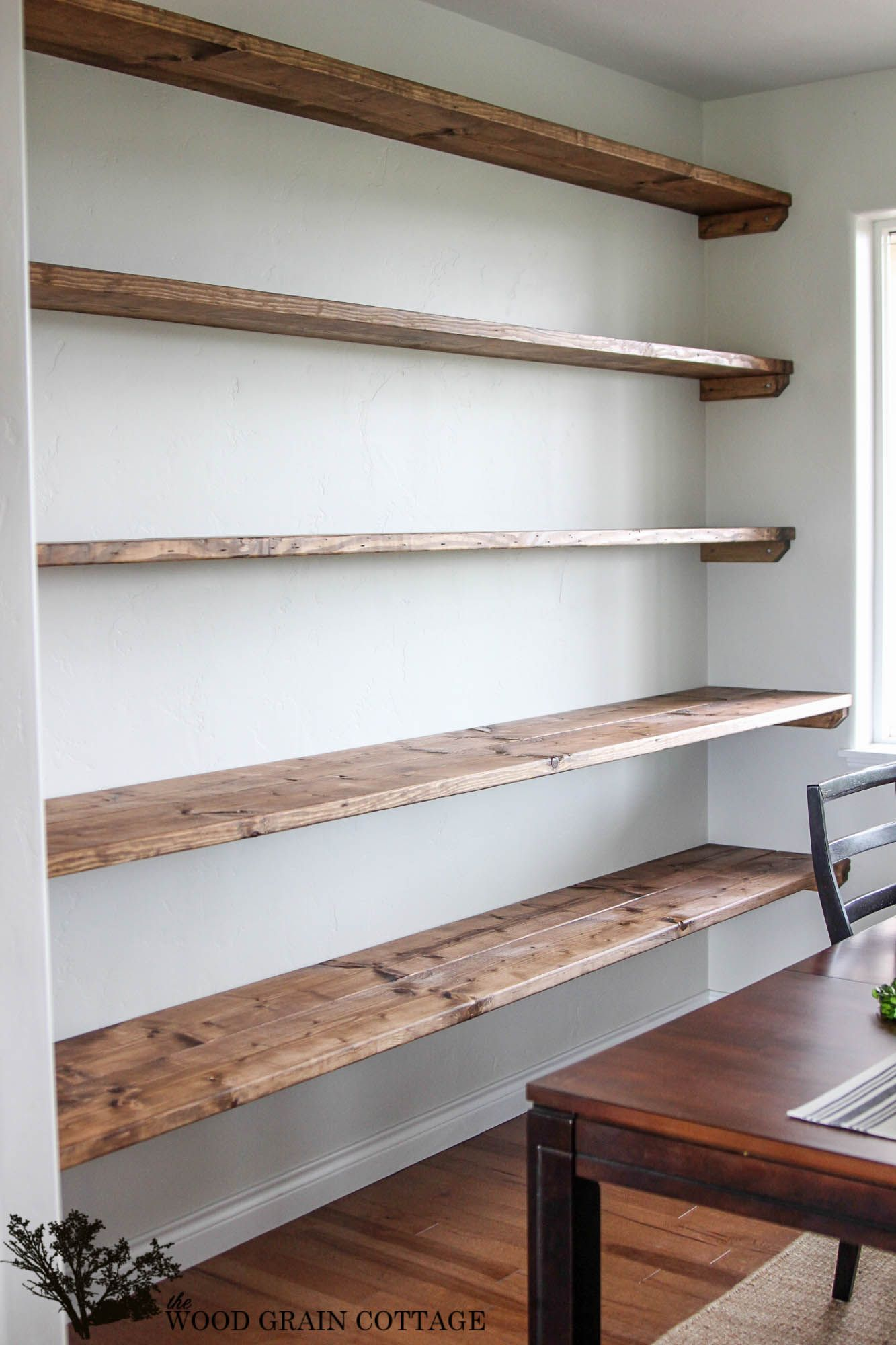 DIY Dining Room Open Shelving