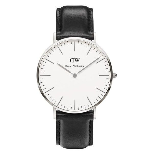Daniel Wellington Men's Classic Sheffield Silver Watch (6.480 UYU) ❤ liked on Polyvore featuring men's fashion, men's jewelry, men's watches, watches, accessories, jewelry, men, bracelets, fillers and mens silver watches