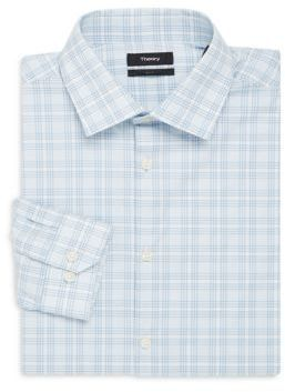 a7da4f22c6f Theory Dover Checked Slim Fit Cotton Dress Shirt | Products | Pinterest