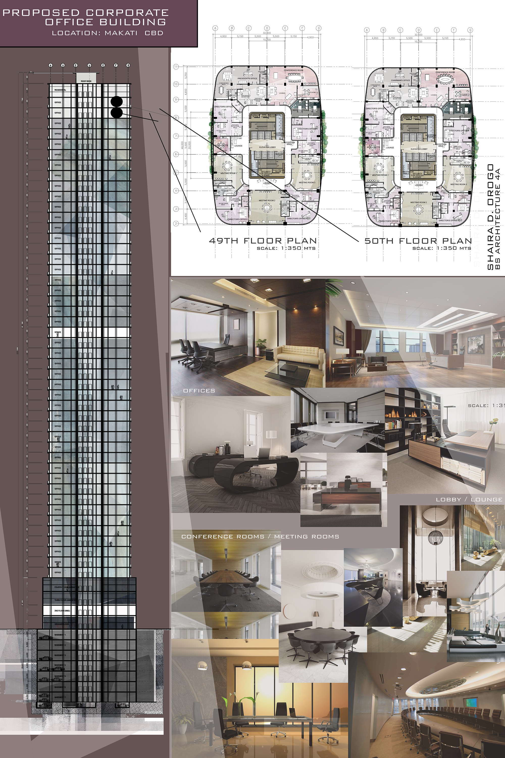 Design 8 proposed corporate office building high rise for Construction architect