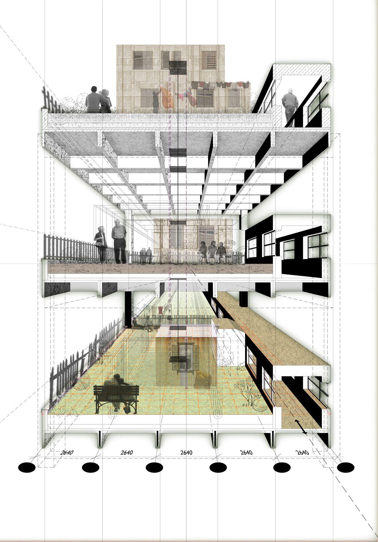 Secciones fugadas representaci n arquitect nica for Representacion arquitectonica en planos