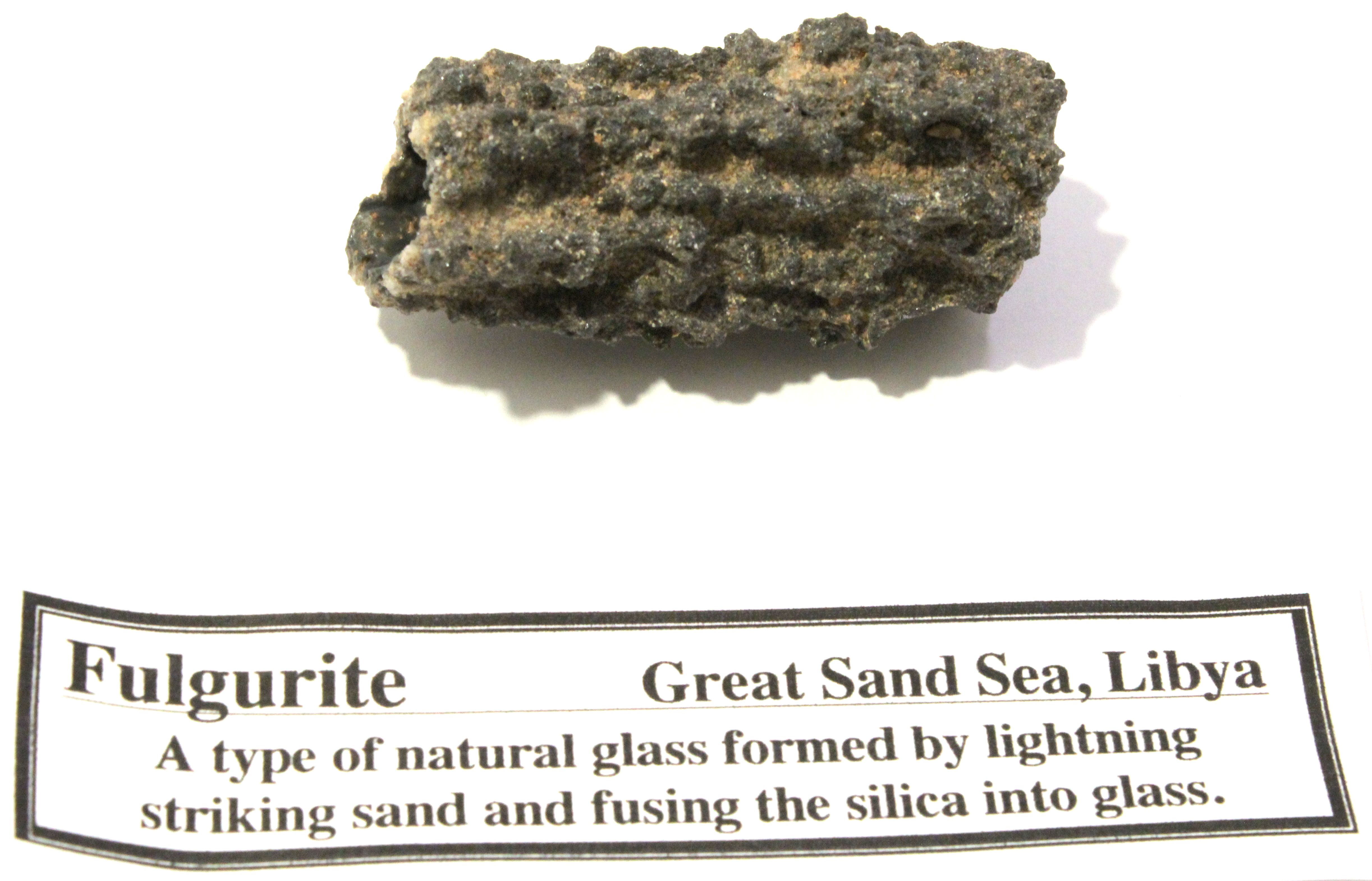 Fulgurite \'Frozen Ligtning\' - Morocco   Minerals   Pinterest ...