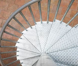 Best Galvanized Spiral Stair Kit Product Options Paragon 640 x 480