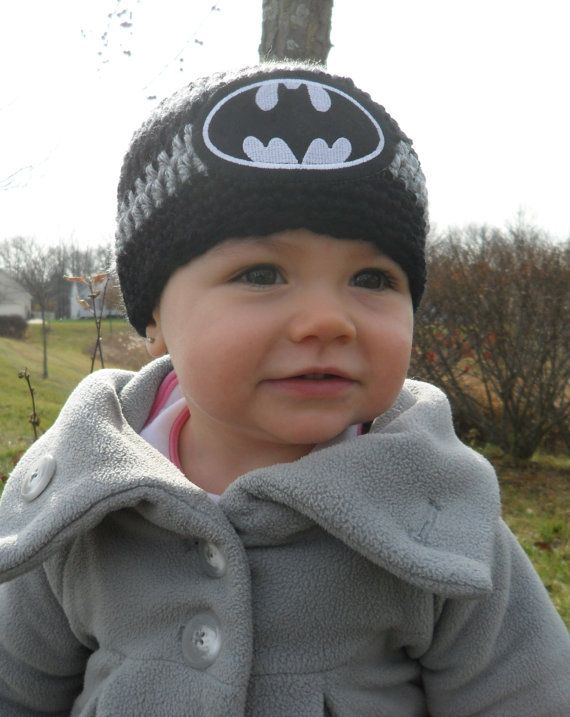 e8f417ad4e5 Handmade Baby Batman Crochet Hat   Batman Newborn Hat   Batman Photo Prop  on Etsy
