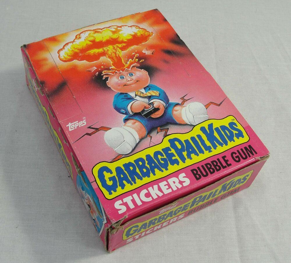 Ebay Sponsored Rare Topps 1985 Garbage Pail Kids Gpb 1st Series Box Set 48 Sealed Wax Packs Garbage Pail Kids Garbage Pail Kids Cards Kids Cards