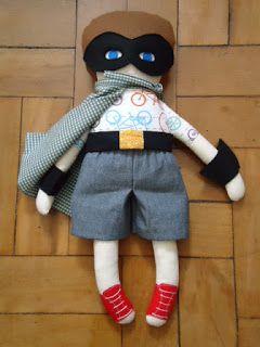 Super Boy - Fabric Rag Doll