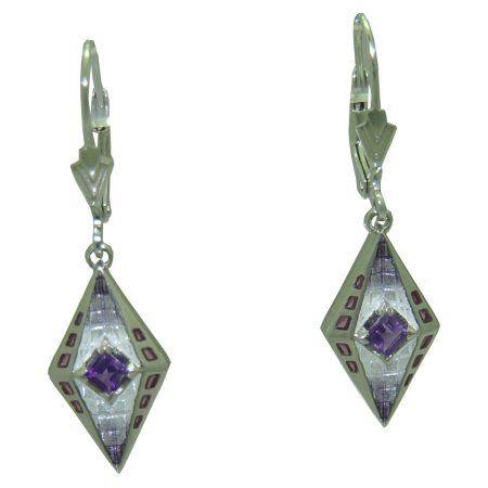 Amethyst Earrings in Sterling Silver https://www.goldinart.com/shop/colored-gemstone-earrings/amethyst-earrings-in-sterling-silver